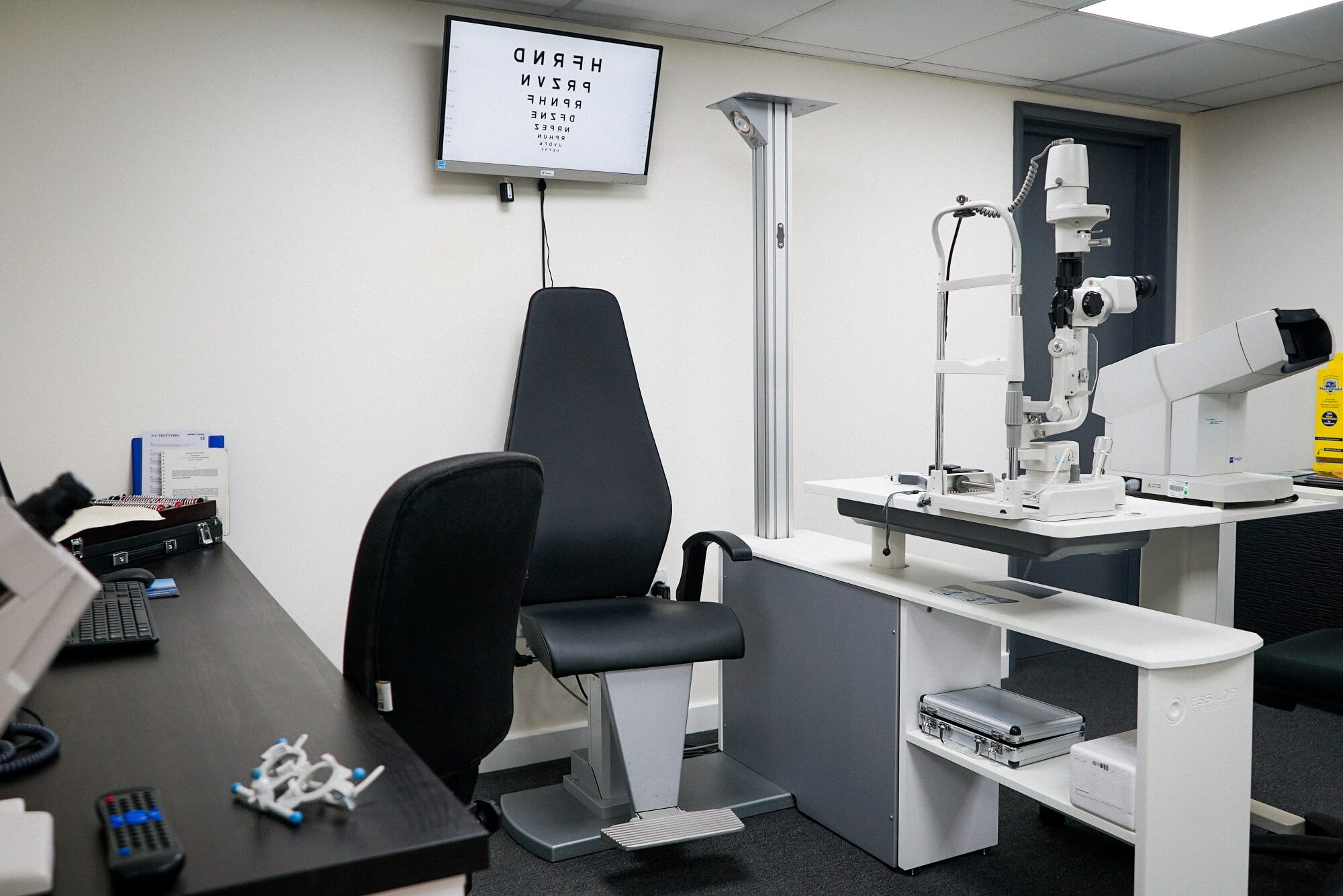 Examination room at D.A. Seaman Optometrists